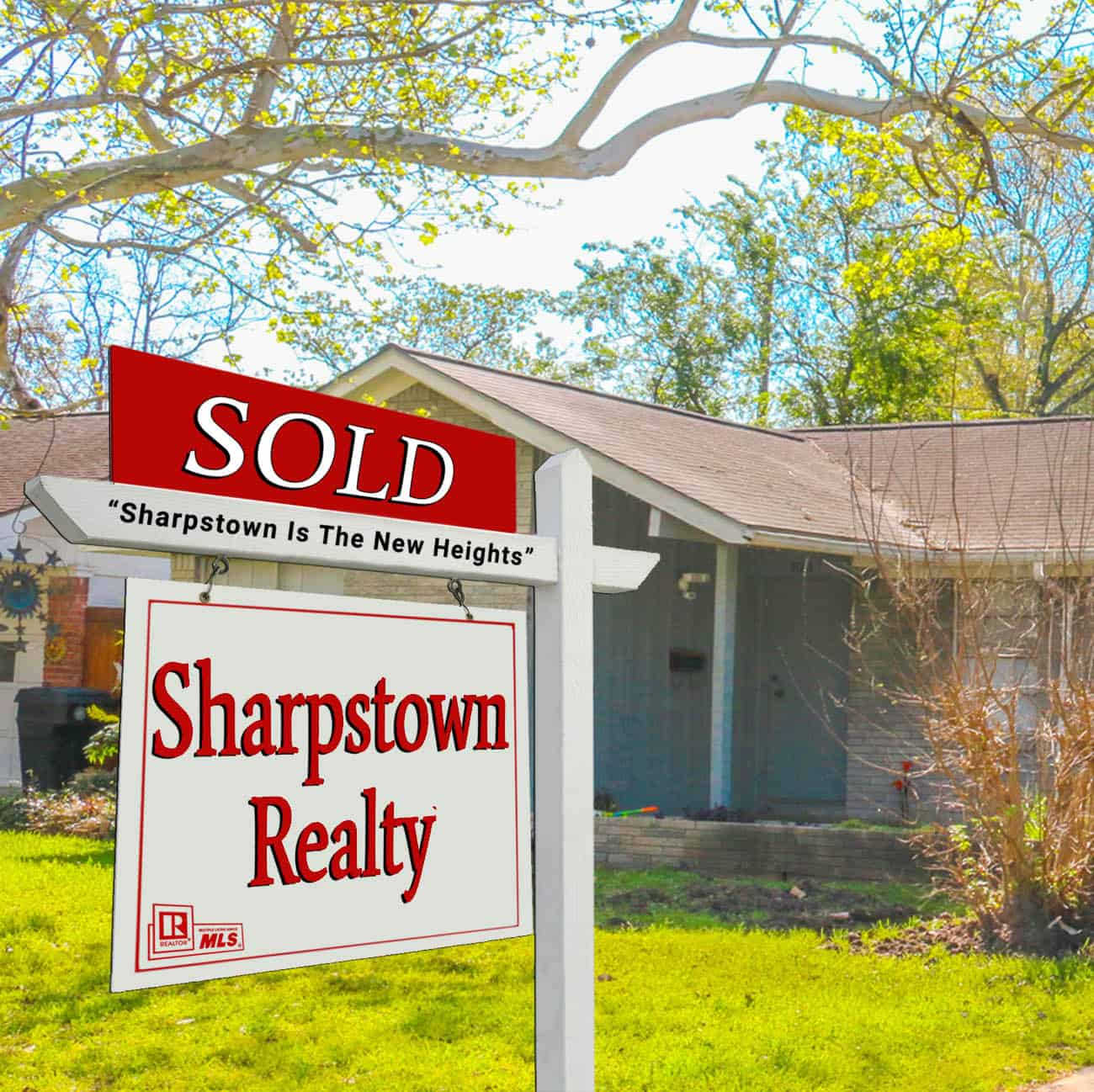 Sharpstown Realty sign